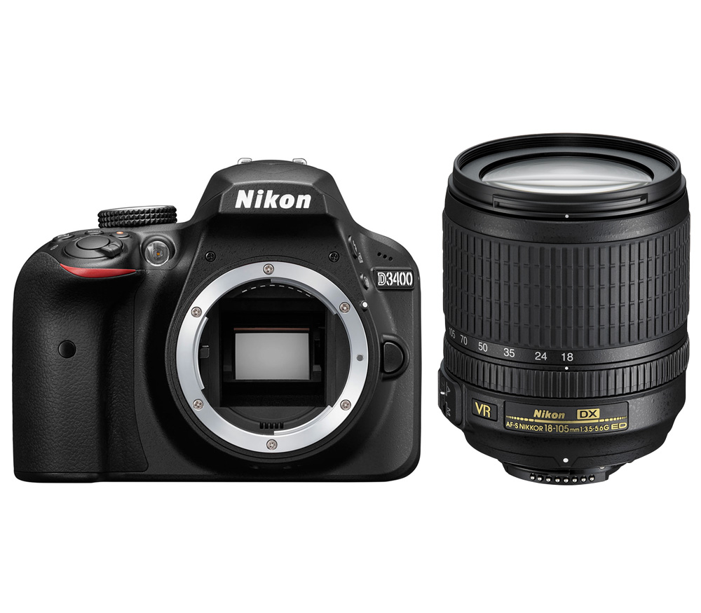 Nikon D3400 Kit Af S 18 105 Vr 105mm F 35 56g Ed Dx