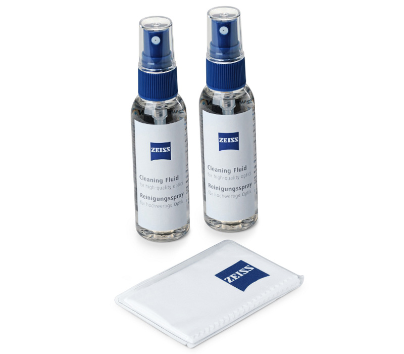 Набор для очистки оптики Zeiss жидкость и салфетка фото