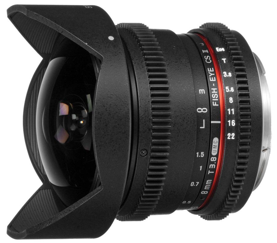 Объектив Samyang 8mm T3.8 AS IF UMC Fisheye CS II VDSLR Canon EF фото