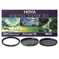 Набор светофильтров HOYA DIGITAL FILTER KIT:  62mm UV (C) HMC MULTI, PL-CIR, NDX8