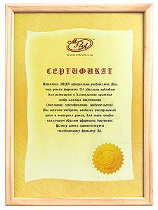 Фоторамка Mpa certificate А4 21x29,7 см Derby светлое дерево фото