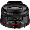 Объектив PENTAX DA 15mm f/4 ED AL HD Limited черный