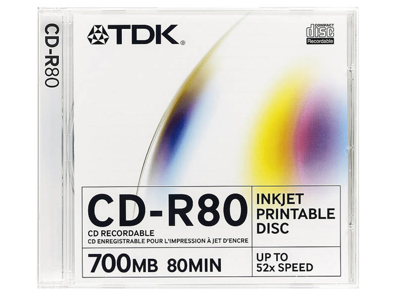 Диски TDK CD-R  700 52x Slim Photo Printable