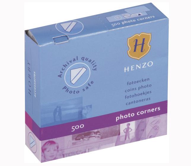 Клейкие уголки HENZO прозрачные 500 шт. фото