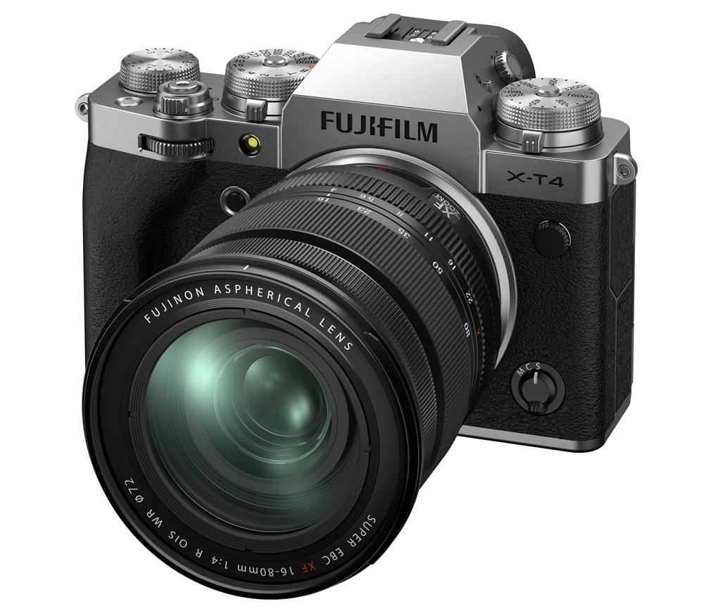 Беззеркальный фотоаппарат Fujifilm X-T4 Kit 16-80mm, серебристый