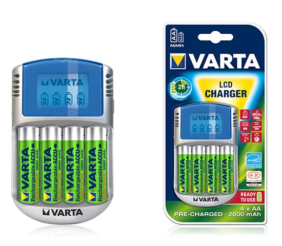 Зарядное устройство VARTA Power Line LCD Charger + 4 акк. АА 2500 mAh Ready2Use
