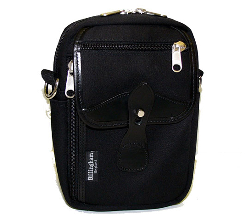 Сумка Billingham Stowaway Airline Shoulder Bag (Black with Black Leather Trim)