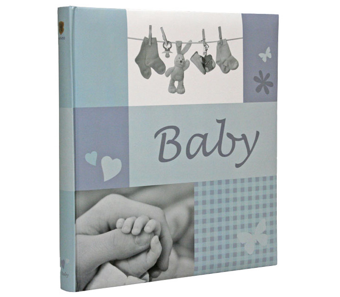 Фотоальбом HENZO 28х30,5 см 60 страниц JESSY детский, голубой фото