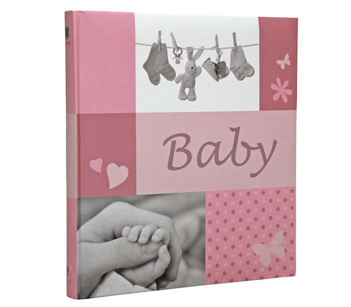 Фотоальбом HENZO 28х30,5 см 60 страниц JESSY детский, розовый фото
