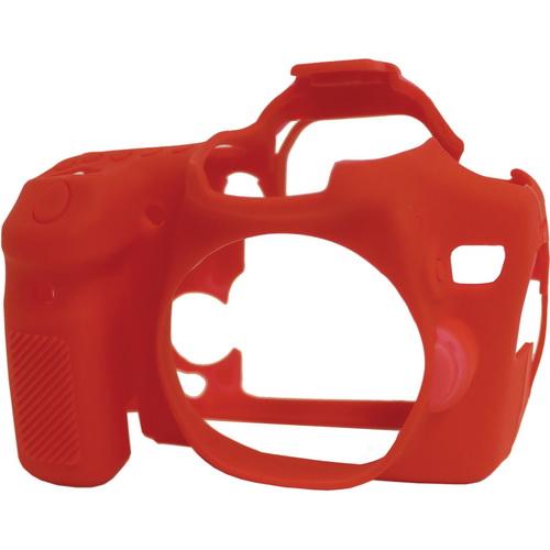 Защитный резиновый чехол easyCover для Canon EOS 70D, красный фото