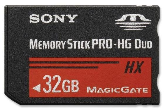 Карта памяти SONY Memory Stick PRO-HG Duo HX 32Gb