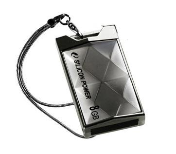 Накопитель Silicon Power USB2 Flash 8GB  Touch 850 Titanium
