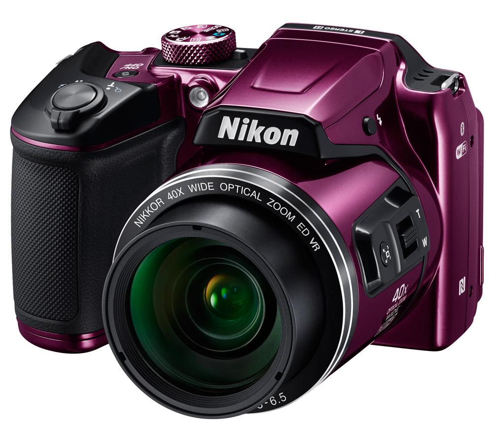 Компактный фотоаппарат NIKON Coolpix B500 сливовый фото