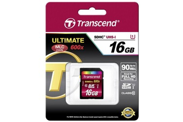 Карта памяти TRANSCEND SDHC 16GB  Class 10 UHS-1 Ultimate (TS16GSDHC10U1)