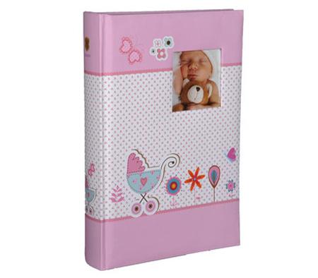 Фотоальбом HENZO 10х15см 300 фото Baby Moments, детский, розовый фото