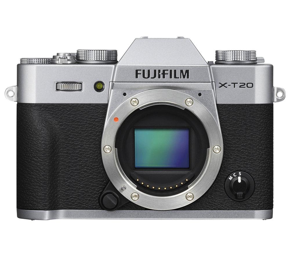 Фотоаппарат со сменной оптикой FUJIFILM X-T20 Body, серебристый фото