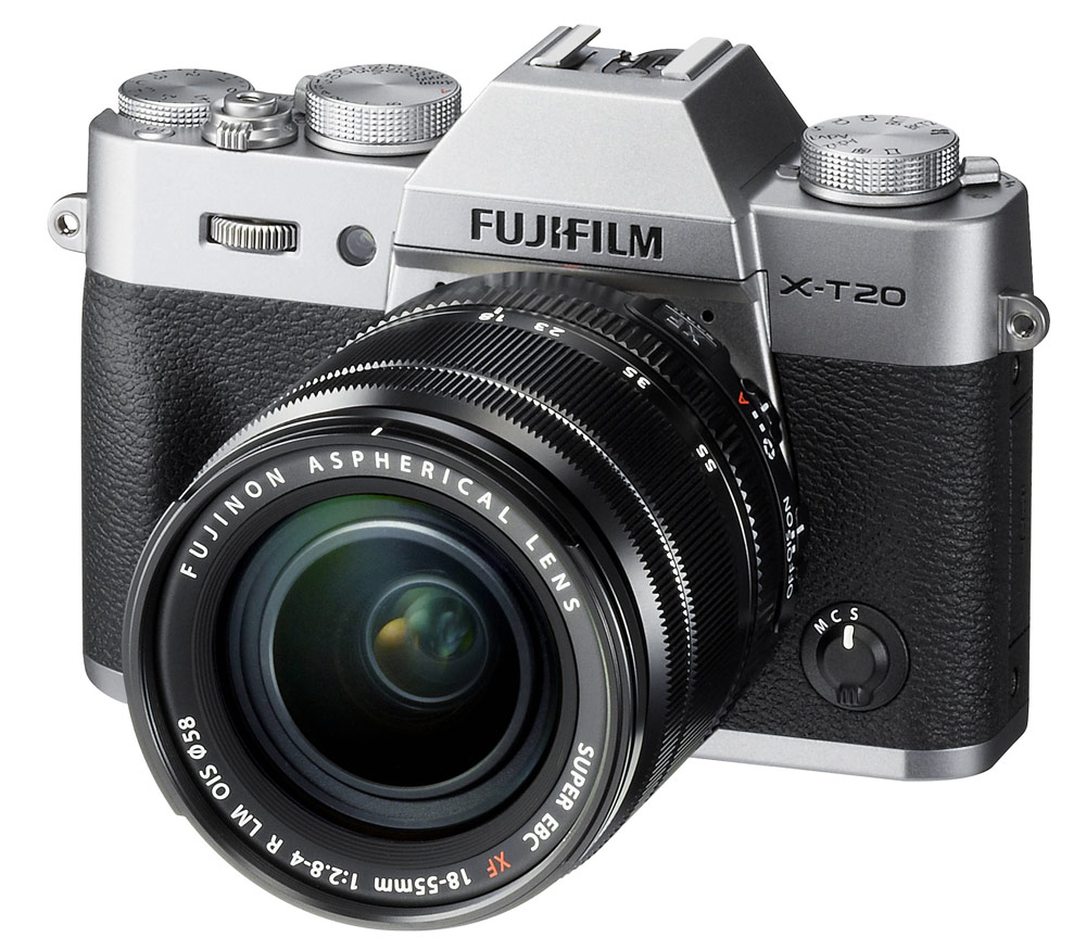 Фотоаппарат со сменной оптикой FUJIFILM X-T20 Kit XF18-55mm, серебристый фото