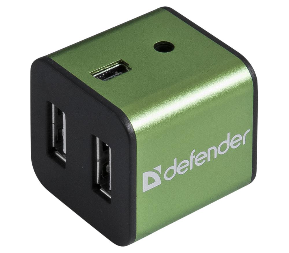 USB концентратор (хаб) Defender Quadro Iron 4 порта, USB2.0 фото