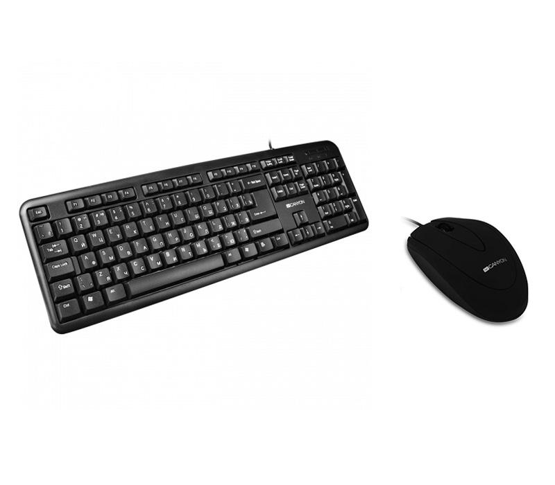 Клавиатура и мышь Canyon проводные CKEY01-RU + CMS1 фото