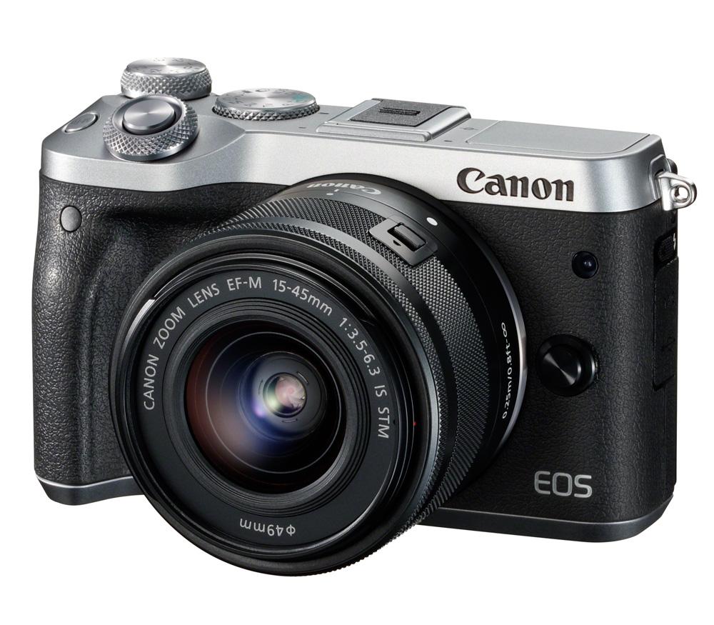Фотоаппарат со сменной оптикой CANON EOS M6 Kit 15-45mm f/3.5-6.3 IS STM, серебристый