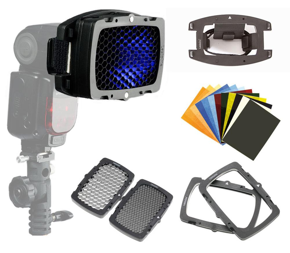 Набор Lastolite Strobo Direct To Flashgun Kit (фильтры и соты, LL LS2616) фото