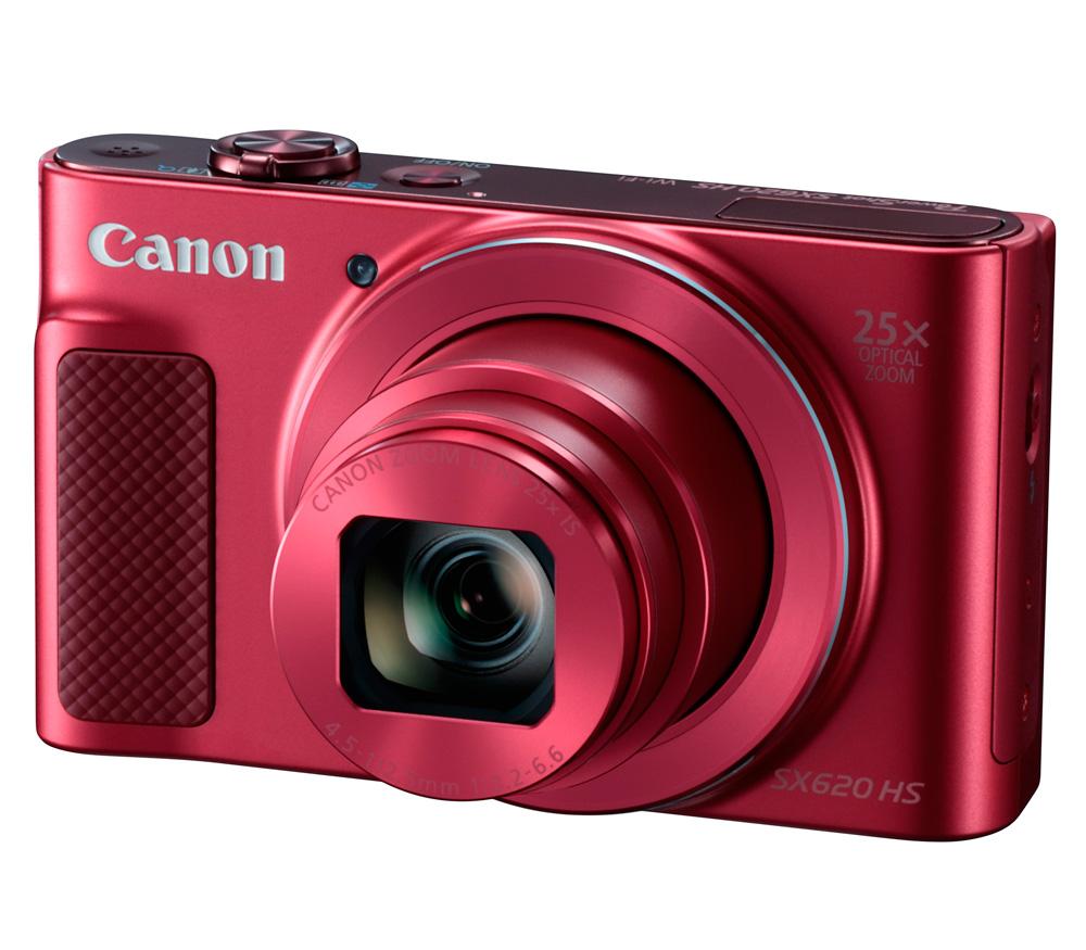 Компактный фотоаппарат CANON PowerShot SX620 HS, красный фото
