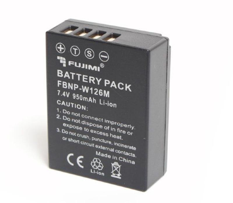 Аккумулятор Fujimi NP-W126, 950 mAh фото