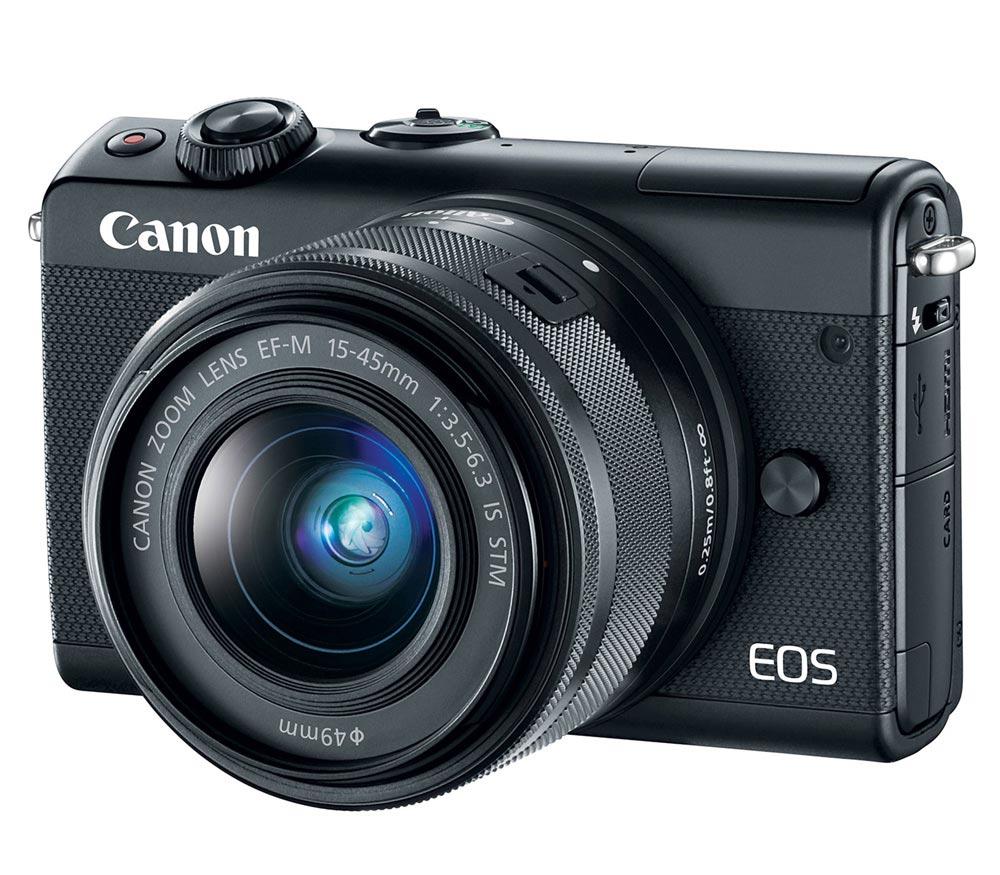 Фотоаппарат со сменной оптикой CANON EOS M100 Kit с EF-M 15-45mm, черный фото