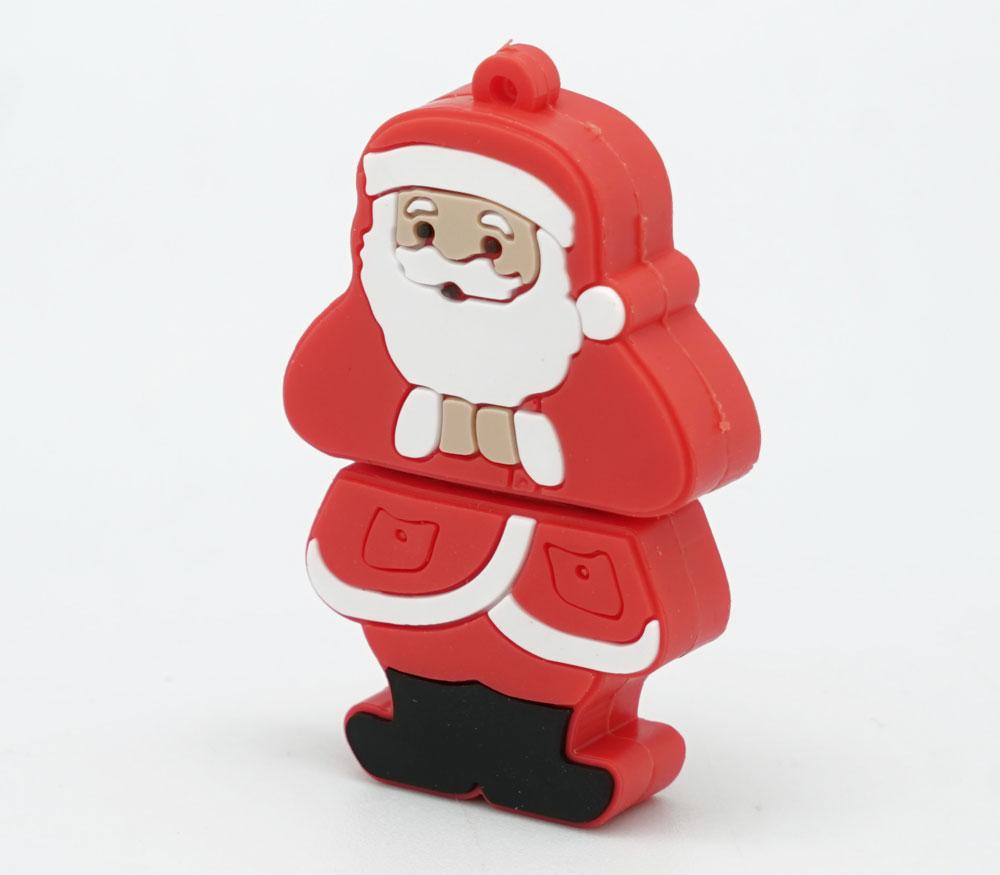 Накопитель Яркий Праздник USB2.0 Flash 8GB Дедушка Мороз (резина) фото