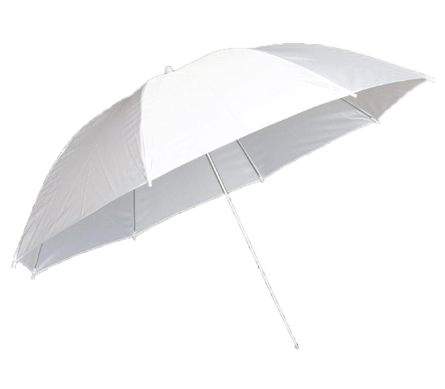 Зонт Fujimi FJU561-40, на просвет, белый, 101 см фото