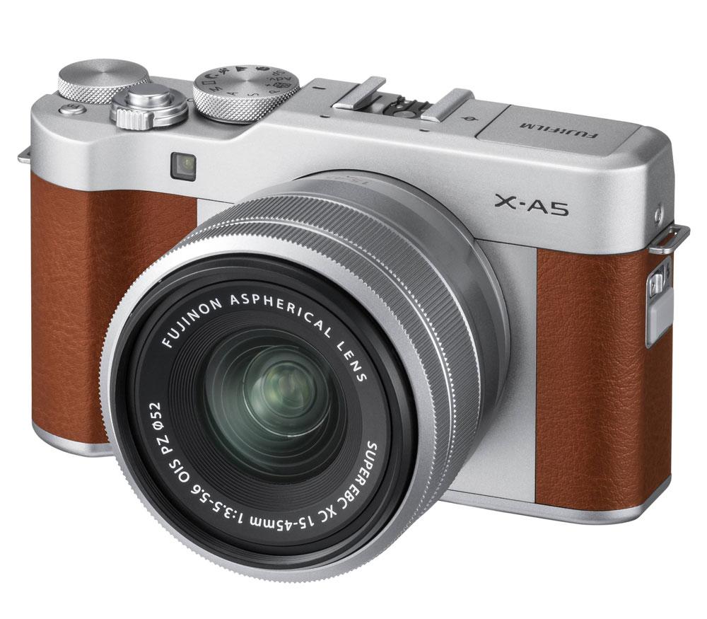 Фотоаппарат со сменной оптикой FUJIFILM X-A5 kit 15-45mm OIS PZ, коричневый фото