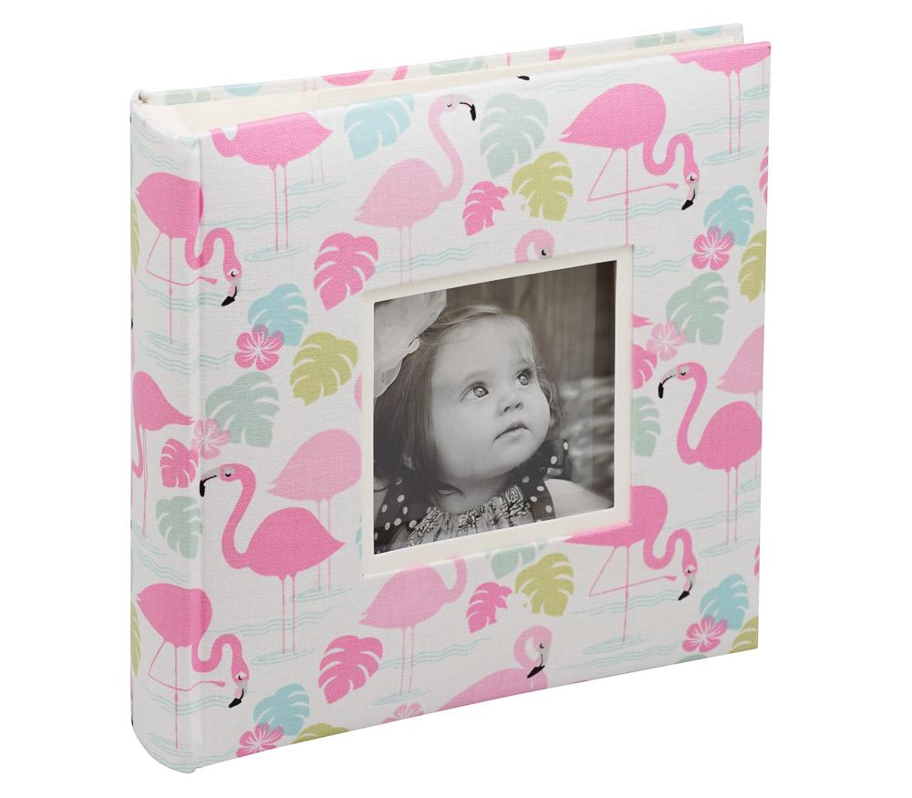 Фотоальбом Fotografia 10x15 см 200 фото, книжный переплет, детский, «Фламинго» (FA-EBBM200-822)