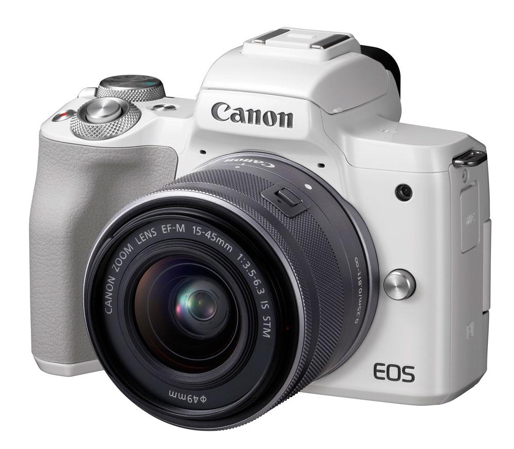 Фотоаппарат со сменной оптикой CANON EOS M50 Kit с EF-M 15-45mm, белый фото