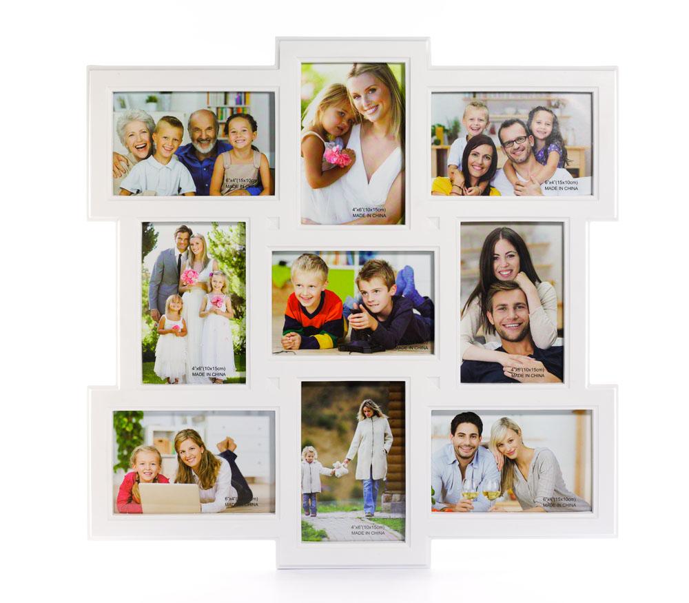 Мультирамка Fotografia на 9 фото 10х15 (FFC-1021) белая фото