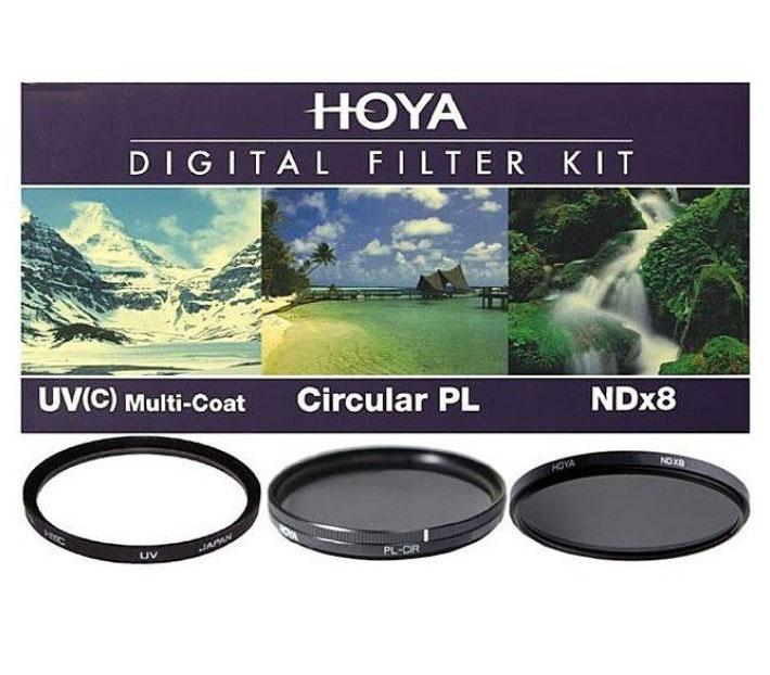 Набор светофильтров HOYA DIGITAL FILTER KIT: 62mm UV (C) HMC MULTI, PL-CIR, NDX8 фото