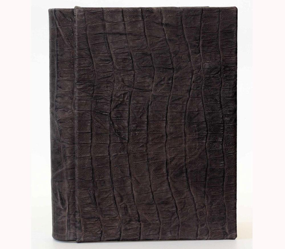 Фотоальбом Florentia 25х33 см, 80 страниц «Крокодил» (натуральная кожа) фото