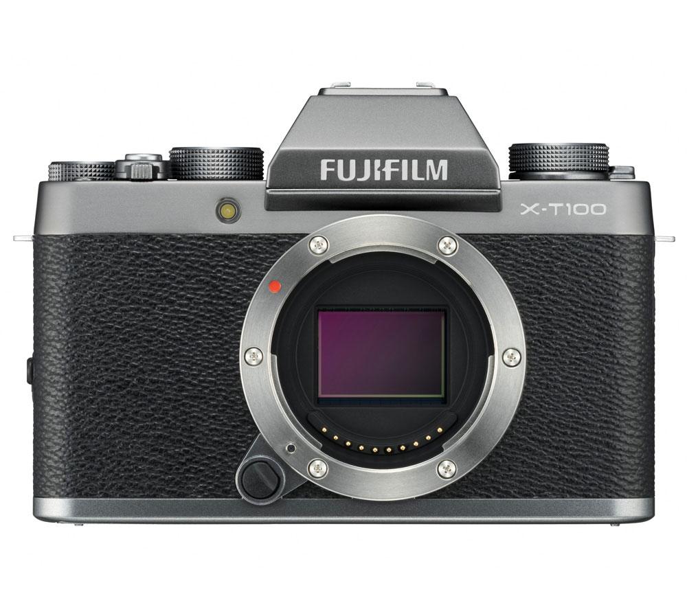 Фотоаппарат со сменной оптикой FUJIFILM X-T100 Body, серебристый фото