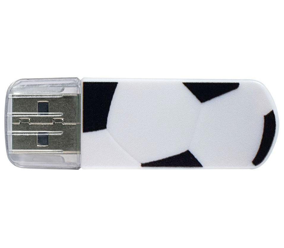 Накопитель VERBATIM USB2 Flash 8GB Mini Graffiti Edition Football фото