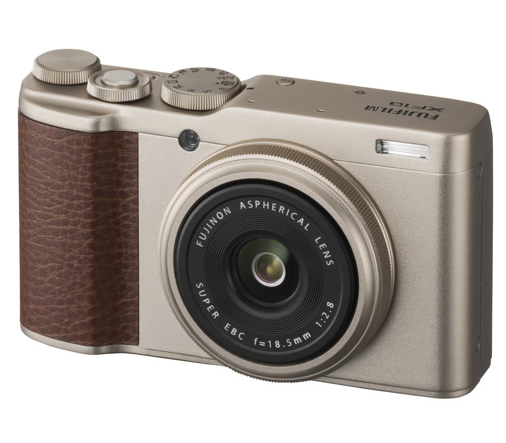 Компактный фотоаппарат FUJIFILM XF10, золотистый фото