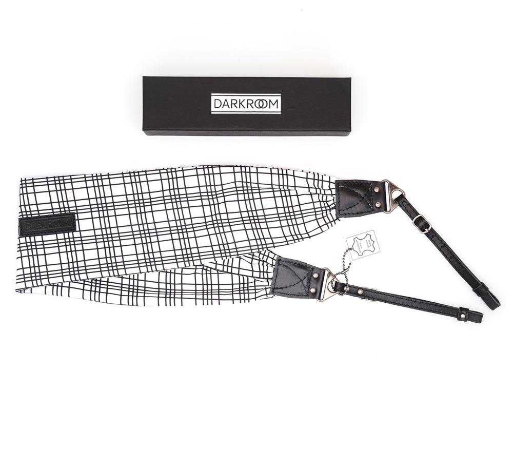 Ремень для фотоаппарата Darkroom женский, текстиль / кожа, белый, толстый ремешок фото