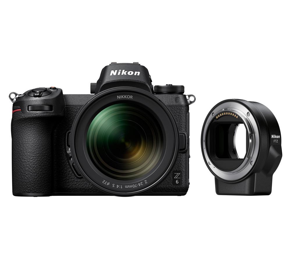 Фотоаппарат со сменной оптикой NIKON Z6 Kit 24-70 f/4 S + FTZ адаптер фото