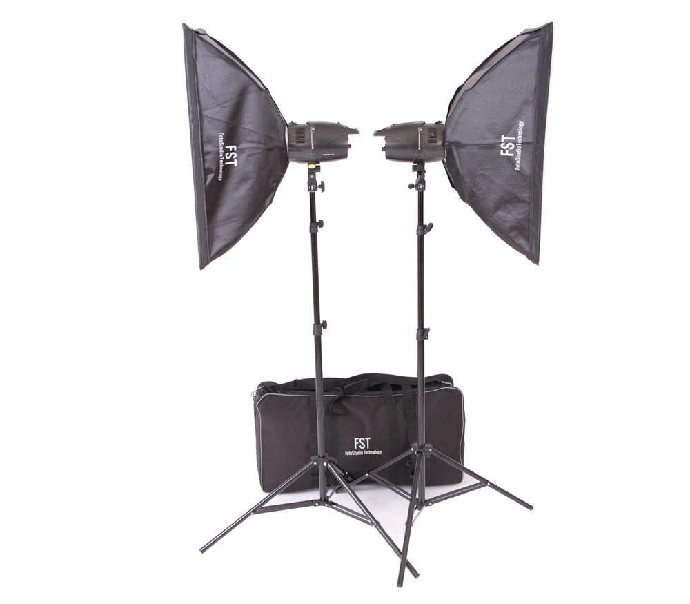 Комплект студийного света FST E-180 Softbox kit, 2х180 Дж