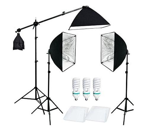Комплект постоянного света FST ET-503 Kit, люминесцентный, 3х125 Вт, 5500К фото