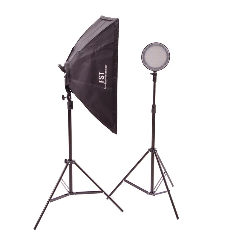 Комплект постоянного света FST LED-1682 Kit, светодиодный, 2х45 Вт, 5500 / 2700 К фото