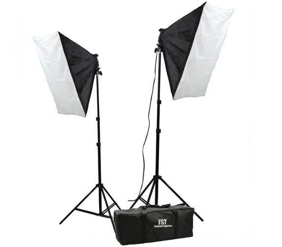 Комплект постоянного света FST ET-402 KIT, люминесцентный, 2х85 Вт, 5500К фото