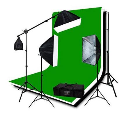 Комплект постоянного света FST Studio kit, люминесцентный, 3х340 Вт фото
