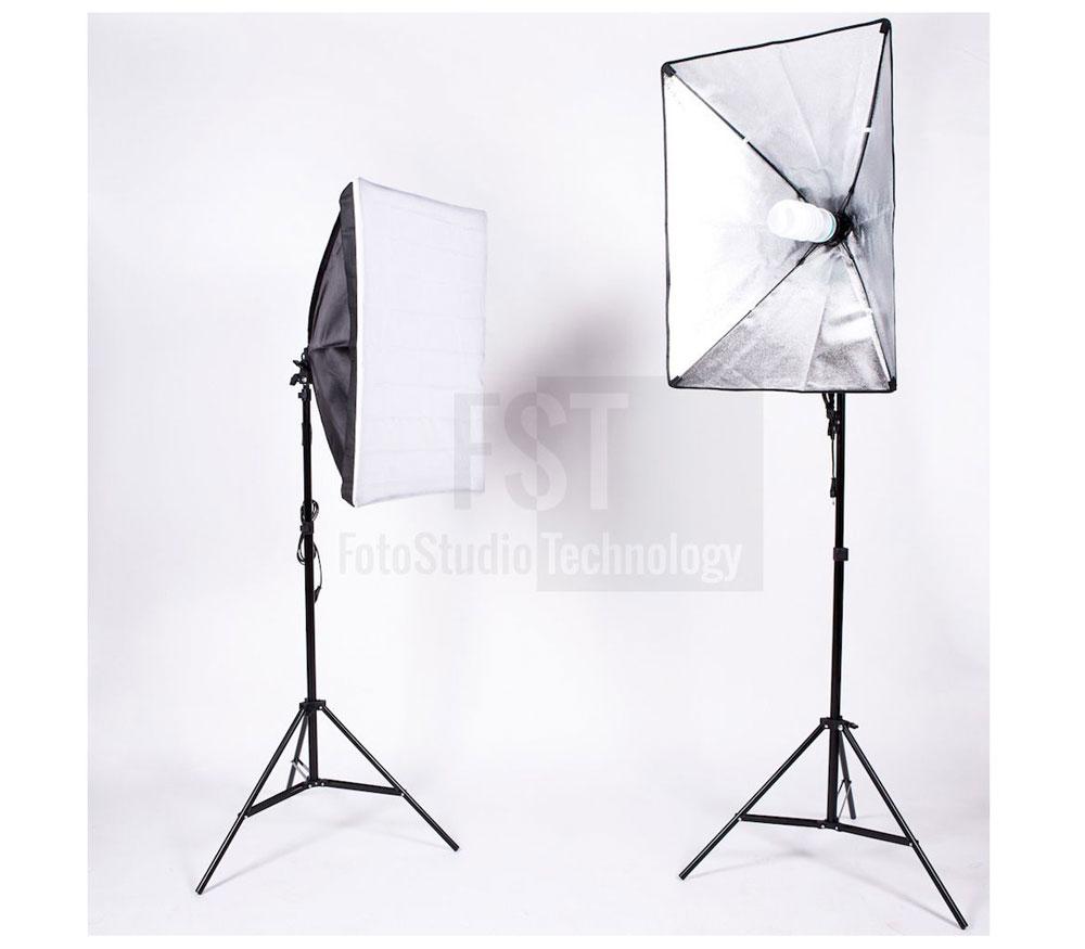 Комплект постоянного света FST ET-462 Kit, люминесцентный, 2х105 Вт фото