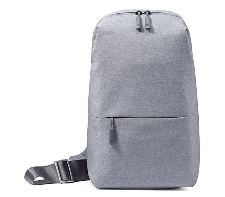 Рюкзак-слинг Xiaomi Mi City Sling, светло-серый фото