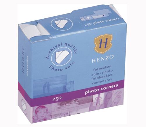 Клейкие уголки HENZO белые 250 шт. фото