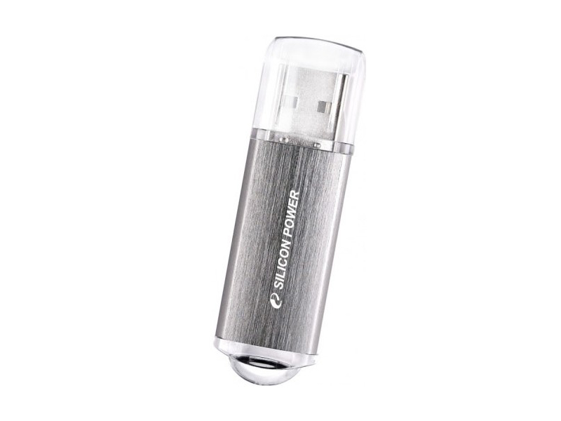 Накопитель Silicon Power USB2 Flash 4GB  Ultima II silver